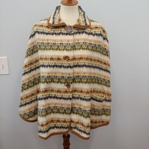 Vintage Wool Cape Maybe Alpaca